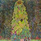 Sunflower poster print by Gustav Klimt