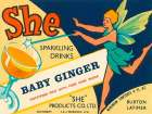 Baby Ginger poster print by  Vintage Booze Labels