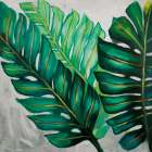 THREE BIG EXOTIC PLANT LEAVES poster print by  Atelier B Art Studio