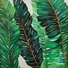 SEVERAL EXOTIC PLANT LEAVES poster print by  Atelier B Art Studio