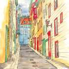 LANE IN LE PETIT CHAMPLAIN poster print by  Atelier B Art Studio