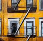 Building Old Fire Escape poster print by  Atelier B Art Studio