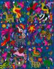 Amazing multicoloured mexican tapestry on blue background poster print by  Anonymous