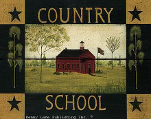 Country School poster print by Dotty Chase