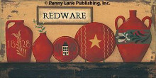 Redware poster print by Jill Ankrom