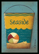 Seaside Bucket poster print by Jill Ankrom