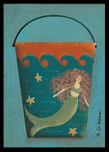 Mermaid Bucket poster print