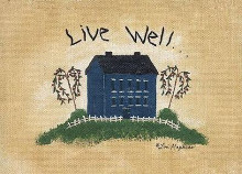 Live Well poster print by Lori Maphies