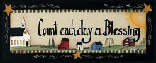 Count Each Day A Blessing poster print by Pat Fischer