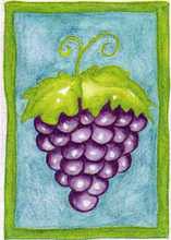 Grapes poster print by  Pencil Factory