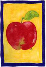 Red Apple poster print by  Pencil Factory