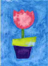 Pink Tulip poster print by  Pencil Factory