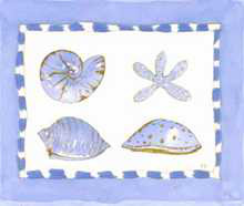 Seashell with White Dots poster print by  Pencil Factory