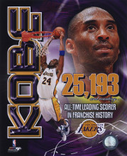 Kobe Bryant Los Angeles Lakers All-Time Leading Scorer Portrait Plus poster print by  Unknown
