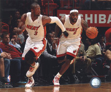 Dwyane Wade & LeBron James 2010-11 Action poster print by  Unknown