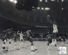 Michael Jordan University of North Carolina Game winning basket in the 1982 NCAA Finals against Geor poster print by  Unknown