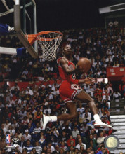 Michael Jordan 1987 Slam Dunk Contest Action poster print by  Unknown
