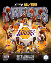 Los Angeles Lakers All Time Greats Composite poster print by  Unknown