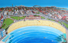 Bondi Beach - Stretched canvas poster print by Patrick Hawkins