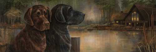 Loyal Companion poster print by Norm Olson