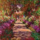 Path in Monets Garden Giverny poster print by Claude Monet