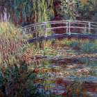 Le bassin aux nympheas harmonie rose poster print by Claude Monet