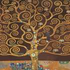 Tree of Life-Brown II poster print