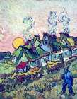 Figure And Houses poster print by Vincent van Gogh