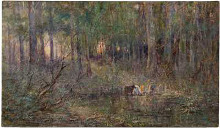 Violet and gold poster print by Fredrick McCubbin