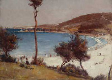 Holiday sketch at Coogee poster print by Tom Roberts