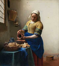 The Milkmaid poster print by Jan Vermeer