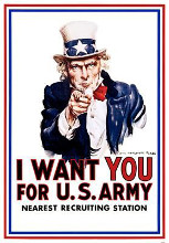 I Want You For Us Army poster print by  Wwii
