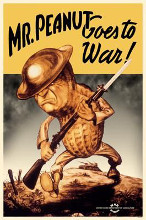 Mr Peanut Goes To War poster print by  Wwii