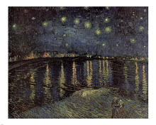 Starry Night over the Rhone, c.1888 poster print by Vincent van Gogh