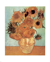 Vase with Twelve Sunflowers, c.1888 poster print by Vincent van Gogh