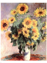 Sunflowers, c.1881 poster print by Claude Monet