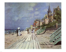 Beach at Trouville, c.1870 poster print by Claude Monet