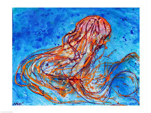 Abstract Jellyfish poster print by Natalie Talocci