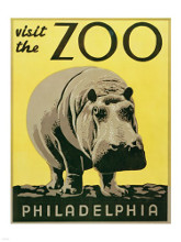Visit the Zoo - Philadelphia poster print by  Unknown