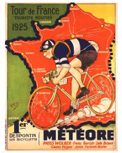 Tour de France 1925 poster print by  Red