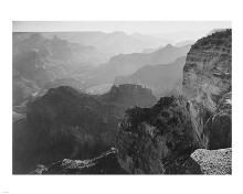 View, looking down, Grand Canyon National Park, Arizona, 1933 poster print by Ansel Adams