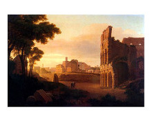 Rome, the Colosseum and the Roman Forum poster print by  Unknown