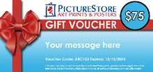 Gift Voucher - $75 poster print by PictureStore