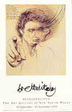 Remembering Lao Tse poster print by Brett Whiteley