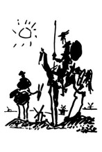 Don Quixote poster print by Pablo Picasso