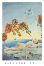 Dream Caused By a Bee Flight poster print by Salvador Dali