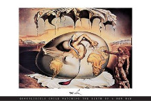 Geopoliticus Child poster print by Salvador Dali