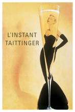 Champagne Taittinger poster print by  Unknown