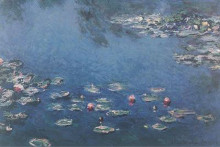 Waterlillies poster print by Claude Monet
