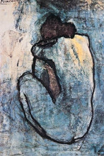 Blue Nude poster print by Pablo Picasso